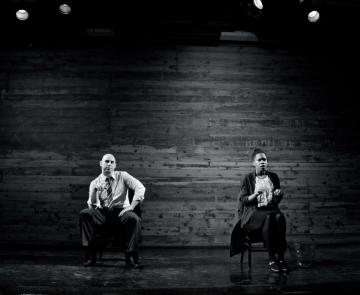 Nikolas Priest and Turquoise Olezene in 'Leaf-Eaters,' February 2013.