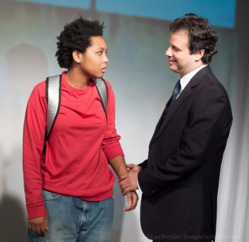 Ashley Lynette Brown and Stephen Girasuolo in 'Color Blue,' August 2012. Photo by Lee Wexler.