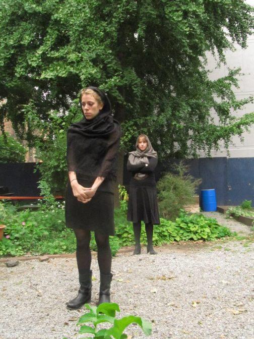Marlena Kalm and Elizabeth Audley in 'We Pray,' September 2012.