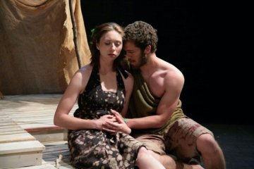 Jessica Leigh Gonzales and Alex Lubischer in 'Genesis,' April 2008.