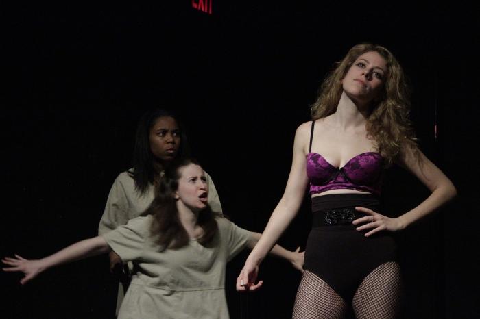 Naomi Bland, Rebecca Gray Davis, and Marlena Kalm in 'Daughters of Lot,' February 2012. Photo by Nick Grant.